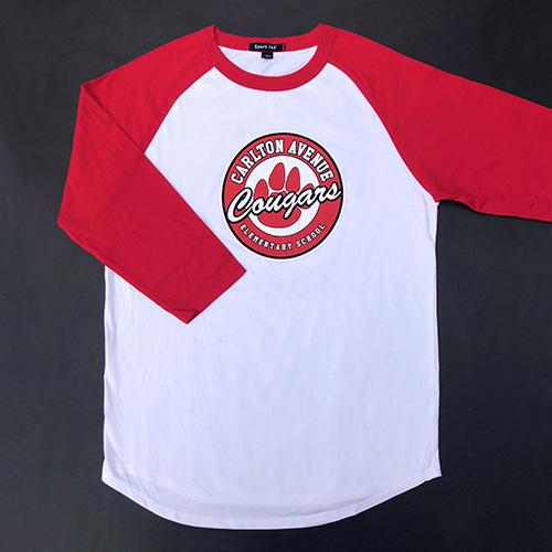 Spirit Wear - Adult Baseball Tee, Paw Logo