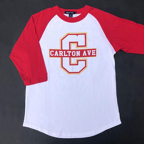 Spirit Wear - Kids Baseball Tee, 3/4 Sleeves, Big C Logo